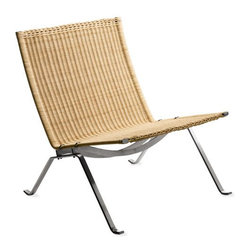 PK22 Easy Chair, Wicker | DWR - I love how this chair combines the simplicity and clean lines of Scandinavian design with the casual ease that would come with beach house furniture in California. If you are looking for mid century furniture that doesn't quite grab for attention as much as other icons might, consider Poul Kjærholm.