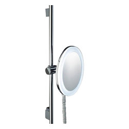 Decor Walther - Decor Walther BS 62 Cosmetic Mirror - The BS 62 cosmetic mirror has been designed and made by Decor Walther.  The BS 62 wall and vanity mirror rounds Decor Walther his excellent  portfolio decline. The elegant and high-quality finish vanity mirroring  can be adjusted on its in the horizon position and fix it with a handle.  A the body of the mirror it self, is also the rail chrome perfectly and  therefore has a very sophisticated and modern. Course, you can align  the mirror it self exactly. To make this sample and fast the BS Decor  Walther has equipped 62 with a ball joint. Decor Walther in  the BS 62 mirror additionally fitted 21 LEDs which are arranged  circularly around the mirror. The energy-saving LEDs send a particulary  natural light ( daylight white) and will be perfect with a glare opal  diffuser. The mirror it self, you can order with a 3-fold 0r 5-fold  magnification.  Product Details:  The BS 62 cosmetic mirror has been designed and made by Decor Walther. The BS 62 wall and vanity mirror rounds Decor Walther his excellent portfolio decline. The elegant and high-quality finish vanity mirroring can be adjusted on its in the horizon position and fix it with a handle. A the body of the mirror it self, is also the rail chrome perfectly and therefore has a very sophisticated and modern. Course, you can align the mirror it self exactly. To make this sample and fast the BS Decor Walther has equipped 62 with a ball joint. Decor Walther in the BS 62 mirror additionally fitted 21 LEDs which are arranged circularly around the mirror. The energy-saving LEDs send a particulary natural light ( daylight white) and will be perfect with a glare opal diffuser. The mirror it self, you can order with a 3-fold 0r 5-fold magnification. Details:                                      Manufacturer:                                      Decor Walther                                                                  Designer:                                     In Ho