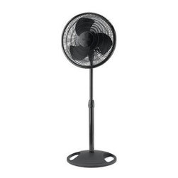 "Lasko Products - Oscillating Stand Fan Black 16"" - 16"" Oscillating Stand Fan with black finish."