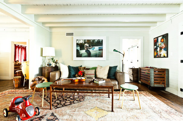 Eclectic Family Room by Cortney Bishop Design