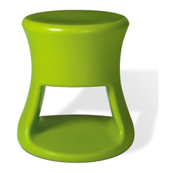 """Offi - Tiki Kid's Stool - Inspired by Tiki mugs from the 60s, these adorable Tiki stools are too charming to pass up. Extremely versatile the Tiki stool is great for both adults and children. An ideal compliment to a modern décor, the Tiki Stools can be used as side stools or barstools. With clean, simple design and bright color options, the Tiki stools are sure to become a quick favorite in your home. Features: -Charming Tiki design. -Perfect for children and adults. -Molded Polypropylene construction. -Dimensions: 15.5"""" H x 13.5"""" W."""