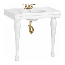 Renovators Supply - Console Sinks White China Belle Epoque Sink 2 Spindle Legs 4"""