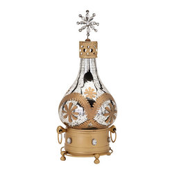 "Imax - Embellished Eclectic Hallam Glass Decanter - *Dimensions: 17.5""h x 8.75""w x 8.75"""