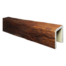 """FauxWoodBeams.com - Timber Faux Wood Ceiling Beam, Walnut, W 6"""" X H 4"""" X L 177"""" - Timber Faux Wood Beams are made of highly durable polyurethane so it will never rot, warp or twist. Pests like termites have no interest in it either. Because they're crafted from molds made from genuine wood, the look and texture is extremely realistic while being lightweight and easy to install."""