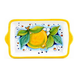 Artistica - Hand Made in Italy - Limoni: Butter Dish - Small Tray - Limoni Collection: