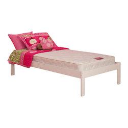 Atlantic Furniture - Atlantic Furniture Concord Platform Bed with Open Foot Rail in White-Full - Atlantic Furniture - Beds - AR8031002