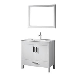 Adornus - Adornus TRENTO-48-WHM-C White Matte Vanity - Free standing all wood vanity in white matte enamel finish.