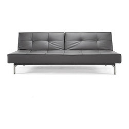 Innovation USA - Innovation USA Splitback Sofa - Stainless Steel Legs - Black Leather Textile. - - The Istyle classic. Simple, modern elegance combined with multifunction and modularity. Enables you to create a playful non-static living room.