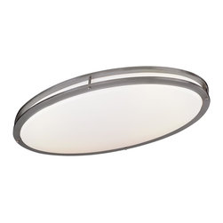 Minka Lavery - Minka Lavery 864-84-PL Brushed Nickel 2 Light Flush Mount - Energy Star Rated