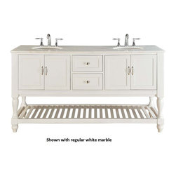 """70"""" Colchester Double Sink Vanity - Pearl White (6070D10-W) -"""