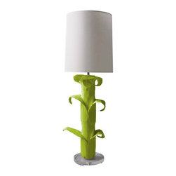 Aly Table Lamp - This is one of the most clever and cutest lamps I've ever seen. While it's perfect for a child's room, especially in whimsical lime green, if you bought, say, white on white, it would be contemporary and chic.