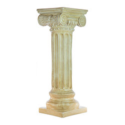 Casa de Arti - Classic Greek Ionic Pillar with Platform Pedestal Column - Beautiful pedestal perfect to display in any room at an amazing price.