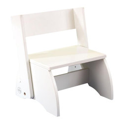 KidKraft - Large Flip Stool - White by Kidkraft - Sometimes little kids need a boost, and our Flip Stool is perfect for the task. A classic piece of childhood furniture, our flip stool helps toddlers feel independent.