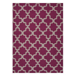Jaipur Rugs - Jaipur Rugs Flat-Weave Moroccan Pattern Wool Pink/Ivory Area Rug, 2 x 3ft - An array of simple flat weave designs in 100% wool - from simple modern geometrics to stripes and Ikats. Colors look modern and fresh and very contemporary.