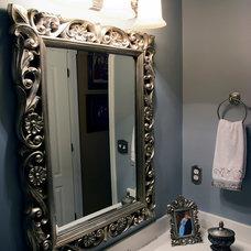 Traditional Powder Room by Cheryl Hucks Interior Designs