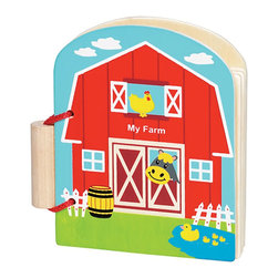 The Original Toy Company - Original Toy Kids Children Original First Book- My Farm- 6 Books - This great solid wood book contains 10 pages of colorful animals and graphics in a Farm theme. Encourages read along and interaction. Gender: Both