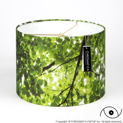 "Chromatica Group, Inc. - Drum Lamp Shade - ""Imagine"" - Evoking nature, sunlight and life. This image was taken in Central Park, New York City. They are the trees that grow and give shade to the ""Imagine"" Strawberry Fields Memorial to John Lennon."