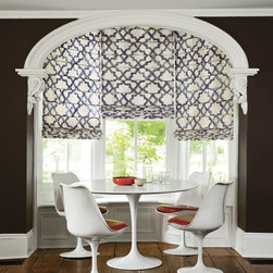 Smith and Noble Reverse Classic Roman Fabric Shades - Fabric Shades make for endless possibilities, like fabric Roman shades for an exotic look, or London fabric window shades for a touch of class. Starting at $131+