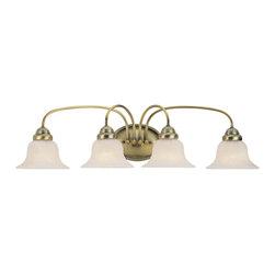 Livex Lighting - Livex Lighting 1534-01 Bath Light - Glass Type/Shade Type: White Alabaster Glass