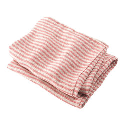Brahms Mount - USA Made Brahms Mount Linen Head Towel, Natural/Red, Head - Elevate the everyday. Treat yourself to the incomparably smooth hand, durability and super-absorbency of our pure linen bath and kitchen towels. Made in Maine since 1983.