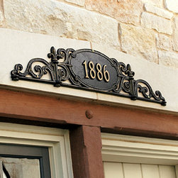 """Ballard Designs - Charleston Overdoor Sign - Specify up to five 3"""" numbers (only). *Please note that personalized items are non-returnable."""