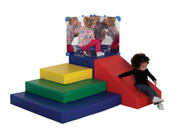 Ecr4kids - Ecr4Kids Softzone Climb And Slide - A perfect climber for little ones to develop gross motor skills and have lots of fun. Kids have the opportunity to explore as they climb and slide. Polyurethane foam shapes are covered in reinforced, phthalate-free vinyl in bright primary and secondary colors. Designed specifically for use against a wall to ensure a safe and fun playtime  not intended for free-standing use.