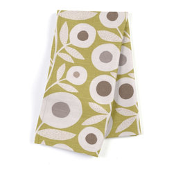 Chartreuse Graphic Flower Print Custom Napkins, Set of 4 - Our Custom Napkins are sure to round out the perfect table setting'whether you're looking to liven up the kitchen or wow your next dinner party. We love it in this modern graphic floral print in lime green, gray & white that will put some spring in your decor's step