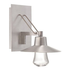 """Modern Form - WS-W1911 Suspense 11"""" 11W LED Outdoor Wall Light, Ws-W1911-Al - Giving the proverbial nod to tradition, it takes a powerful LED to pull off this look in a dark sky design. This contemporary lantern showcases a mouth blown clear glass element and is equipped with state of the art LEDs for a filament-free design. Couple your passion for living with our passion for lighting."""