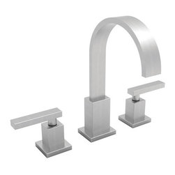 """Newport Brass - Newport Brass 2040/15S Satin Nickel SECANT Double Handle Widespread - Newport Brass Double Handle Widespread Lavatory Faucet with Metal Lever Handles from the Secant Collection NEWPORT BRASS-Flawless Beauty. From Faucet to Finish- With over 20 years of innovation and design success, Newport Brass decorative plumbing and bath products will satisfy your most intimate desire to transform an everyday kitchen or bath into a room of classic beauty and distinction. General Features :  Double Handle Widespread Lavatory Faucet Metal Lever Handles Solid Brass Construction 8"""" Centers Spout Reach is 5-13/16"""" Contemporary Styling  Finish Features :  Available in 25 Beautiful Finishes New Industry Leading Lacquer Finish Process  IAPMO Certified and Tested Long Life Finishes - 10 Year Warranty Durable, Color Protected, Scratch Resistant   Green, Low VOC, Energy Efficient Finishing Process  Innovative Design Features :  Timeless Design for Contemporary Styles Laminar Flow for Clear, Smooth, Luxurious Water Flow Clean Designs - No Visible Set Screws on Handles or Trim Plate  Handcrafted Quality Features :  Solid Non-Corrosive Forged Brass Components Patented Drip-Free Ceramic Valve Hand Polished and Inspected O-Ring Deck Seal Handles for Clean Counter Tops and Easy Installation  Easy Installation Features :  Direct Connect Hose System for Leak-Free Easy Installation Easy Install Valves with Custom Valve Nut that Insures Proper Cartridge Height and Easy Install  Certifications and Compliances :  WaterSense Certified AB1953 Low Lead Brass Materials Compliant"""