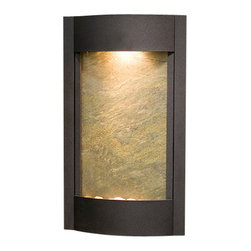 Adagio Water Features - Serene Waters Wall Fountain, Textured Black, Green Featherstone - Easy installation and lightweight