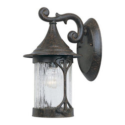 """Designers Fountain - Designers Fountain 20911-CHN 1 Light 7"""" Cast Aluminum Wall Lantern from the Cany - Features:"""