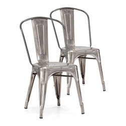 Hudson Chairs, Set of 2 - I have been seeing aluminum chairs popping up in restaurants and local coffee shops. I need a few to complete my entryway.