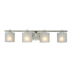 collection 4 light bath bar brushed nickel finish from hampton bay