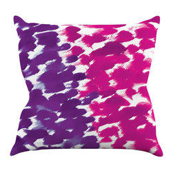 """Kess InHouse - Emine Ortega """"Fleeting Purple"""" Throw Pillow (16"""" x 16"""") - Rest among the art you love. Transform your hang out room into a hip gallery, that's also comfortable. With this pillow you can create an environment that reflects your unique style. It's amazing what a throw pillow can do to complete a room. (Kess InHouse is not responsible for pillow fighting that may occur as the result of creative stimulation)."""