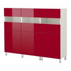 Bestå Storage Combination With Doors - This is a great splash of color. I love the look of this sleek storage.