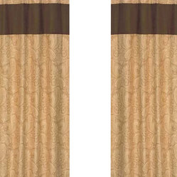 Camel Paisley Window Panels (Set of 2)