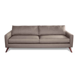 True Modern - Dane Standard Sofa, Dolphin - This cool classic will have you sitting pretty. It has a sleek silhouette that looks good coming and going, with super slim arms and Danish legs. Use it to bring a retro vibe to your space.