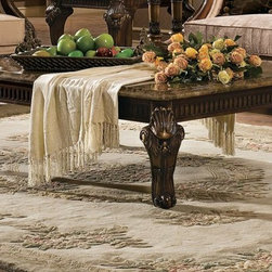 Venice Coffee Table with Marble Top, Orleans International -