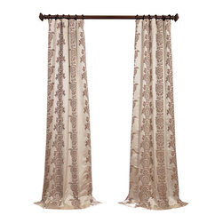 Exclusive Fabrics & Furnishings, LLC - Surrey Ivory Jacquard Curtain - Deliciously rich, these curtains will give your room a mini-makeover. Toss in a few accessories like a multicolor rug and finish with a few accent pillows. That's a quick, inexpensive makeover.