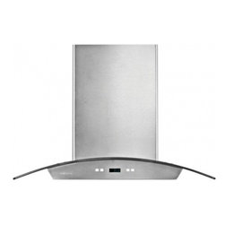 """Cavaliere - SV218D-I36 36"""" Stainless Steel Island Range Hood With 900 CFM  Touch Sensitive L - The SV218D-I island mount range hood comes in two different sizes 30 and 36 Ample lighting for your cooktop is provided by the four 35 Watt dimmable halogen light bulbs The six different speed on this range hood ensures that you have a perfect speed ..."""