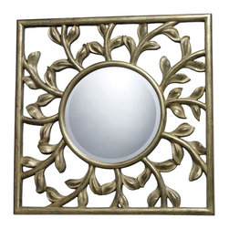Sterling Industries - Sterling Industries Oviedo Mirror in Antique Silver with Gold (DM1925) - Sterling Industries Oviedo Mirror In Antique Silver with Gold (DM1925)