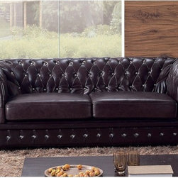 Genuine Leather Chesterfield Sofa - Here is a classic and affordable Chesterfield. These are by far my favorite types of sofas!