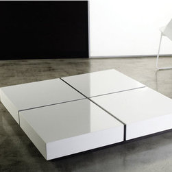Luxo by Modloft - Dean Coffee Table - Synonymous with modern luxury and invites consumers to revel in a contemporary design-forward lifestyle. Luxo by Modloft offers consumers an entire lifestyle in which to live boldly and beautifully via its furniture collections and accessories. Made in Brazil using only environmentally sustainable materials, Luxo by Modloft delivers uncompromising quality with undeniable flair. Well made. Well priced. Well done. Features: -Square shaped.-Wood base with lacquer top.-Brazilian sustainable wood construction.-Please note: This item cannot be cancelled after purchase due to the custom nature of the product.-Distressed: No.Dimensions: -Overall Product Weight: 121 lbs.