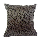 BohoCHIC Maui - Leopard Print Flock Organza Pillow Cover, Luxury Damask Print Pillow - This cushion has been hand crafted from a beautiful sheer flock organza which creates a raised leopard print effect. Run your hands across the damask front overlay and lined satin back once and you'll find it difficult to stop stroking or hugging it! My unique lining technique provides an additional luxurious detail. The signature envelope opening ensures the easy removal of the pillow insert, making cleaning the item fuss free.