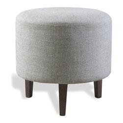 Interlude - Interlude Moira Pouf - The Moira Pouf is a clean elegant linen pouf.