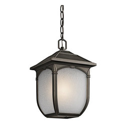 Kichler - Kichler 49432RZ Lakeway Outdoor Pendant 1 Light In Olde Bronze - Technical Specs: