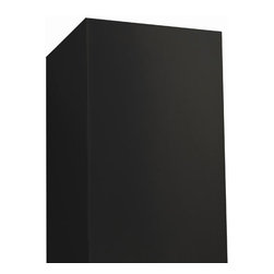 "33"" Flue Extension for 36"" Maestro Series Black Island Range Hood - Lengthen the visible portion of your flue by 33"" with this Black Powder Coat, stainless steel extension piece. Compatible with 36"" Maestro Series Black Island Range Hood."