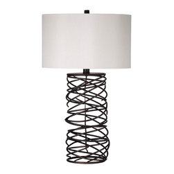 Bassett Mirror - Bassett Mirror Whittier Table Lamp L2795TEC - Bassett Mirror Whittier Table Lamp L2795TEC
