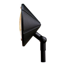 LANDSCAPE - LANDSCAPE 12V Adjustable Outdoor Wall Wash X-TKB16351 - This Kichler Lighting outdoor wall wash light fixture features an adjustable head, making it a great choice for wall washing but also for back lighting against shrubs or architectural details. The pyramid shaped shade is accentuated by a Textured Black finish for a modern look.
