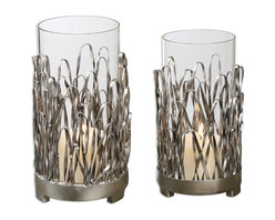 Uttermost - Corbis Candleholders, Set of 2 - If you only have one choice for an accent piece, don't overlook candleholders. They can dress up a console, highlight a coffee table or sofa table and make a dramatic centerpiece on your dining table. These lean toward the dramatic.